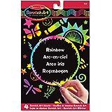 Melissa & Doug Scratch Art Activity Kit: Rainbow - 4 Boards, Stencil Sheet, Wooden Stylus