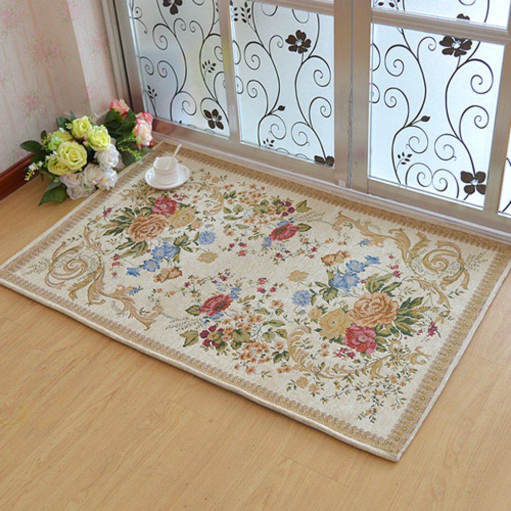 European Garden Floor Mat/Washing Door Mats/Door Mats/Floor Mat/Living Room,Bedroom,Tea Table,Restroom ,Non-slipping Mats-O 140x200cm(55x79inch)