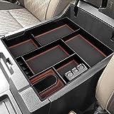 CarQiWireless Center Console Organizer Tray for Toyota Tundra 2014 2015 2016 2017 2018 2019 2020 2021 Tundra Accessories, Arm