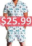 b10f6618b55 Male Romper Original Men s Romper Jumpsuit Costume 3D Graphic Milk  Personalized Short Sleeve Playsuit Overalls One Piece Slim Fit Surfing XL