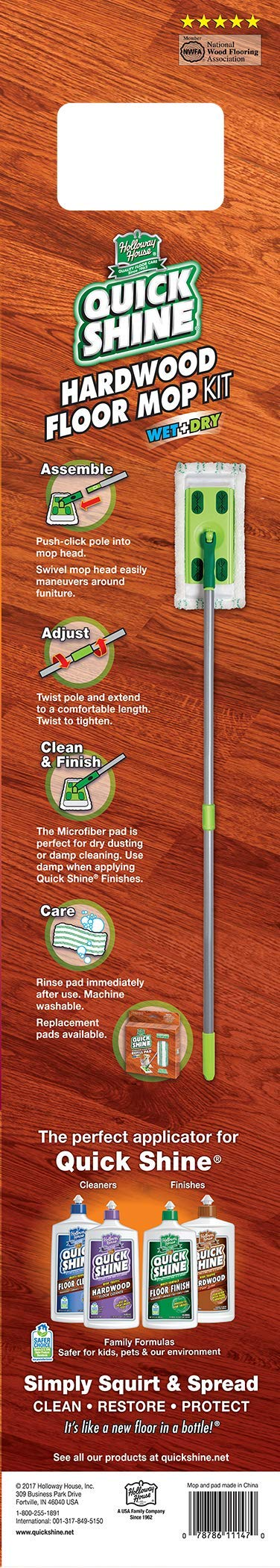 Quick Shine Hardwood Floor Kit with Microfiber Mop Pad by Quick Shine (Image #1)