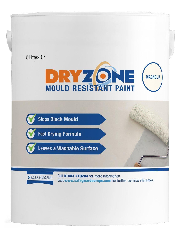 Peinture anti-moisissure Dryzone, magnolia, 5 l - Résistant à la moisissure pendant 5 ans 5 l - Résistant à la moisissure pendant 5 ans Safeguard Europe