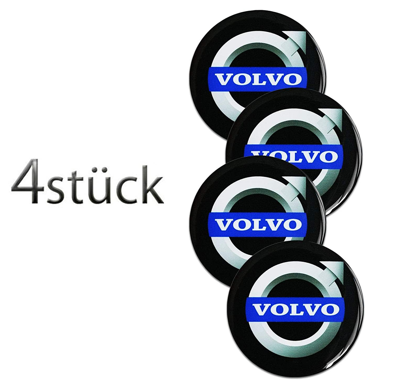 Volvo amp; # x2605; 4 pieza & # x2605; 60 mm Pegatinas Emblema para llantas Buje Tapa Tapacubos: Amazon.es: Coche y moto