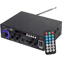 Amplificador de Audio Estéreo Hi-Fi Bluetooth 5.0 con Control Remoto Amplificador Portátil con 2 Entradas de Micrófono…