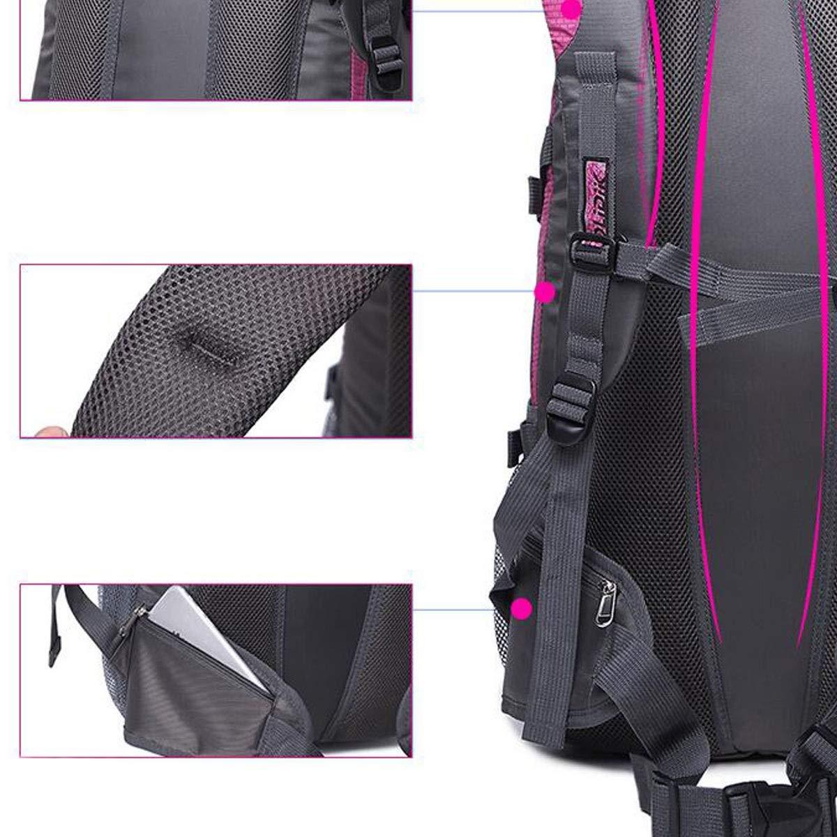 Color : ArmyGreen Blue Leisure Travel Light Waterproof Outdoor Mountaineering Bag 30L(Black ArmyGreen Chenjinxiang01 Large-Capacity Backpack Purple Rose Red) Orange