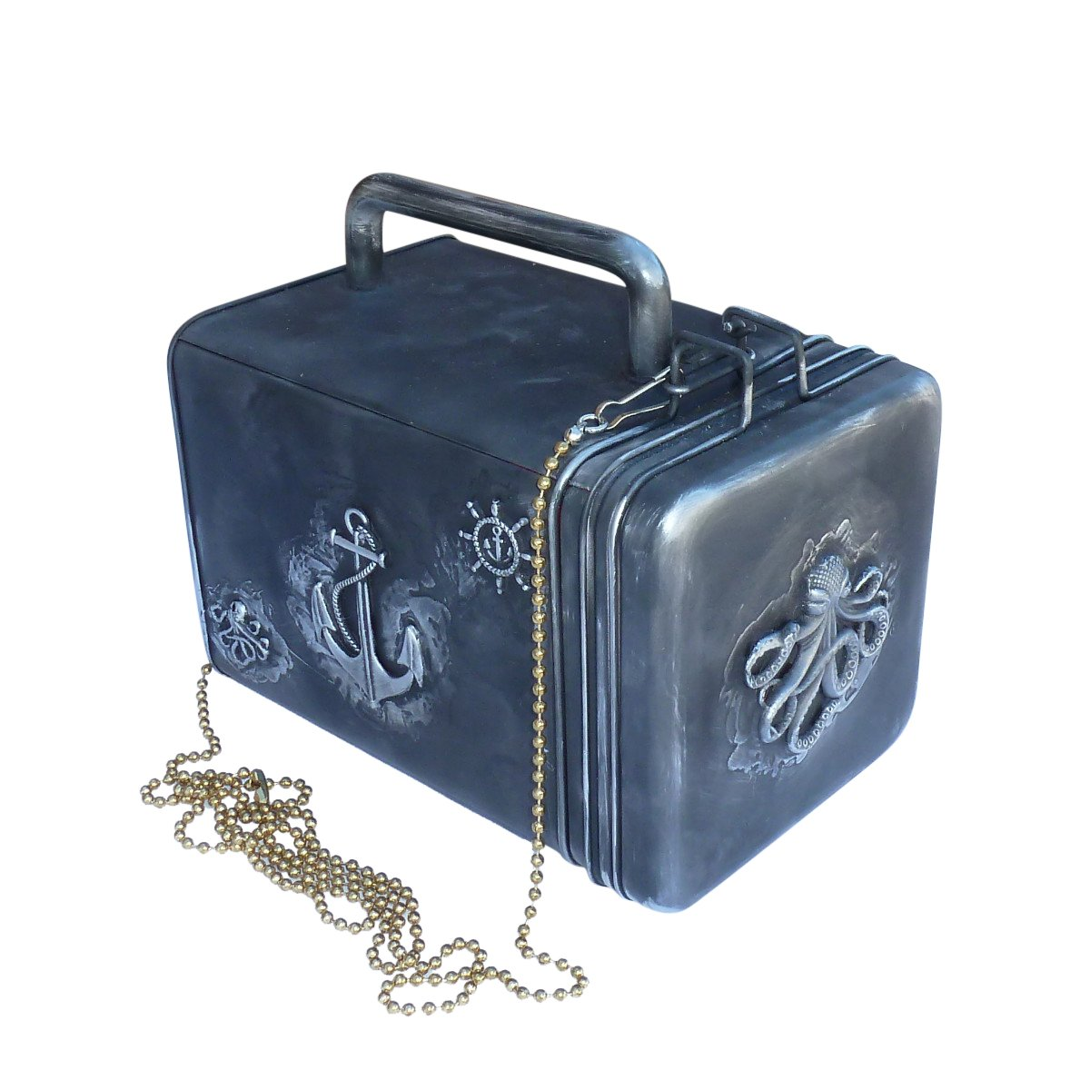 SteAMPunk travel Nautical Steampunk purse BOX handmade by OldJunkyardBoutique (Image #1)