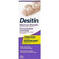 Desitin Diaper Rash Cream for Baby, Zinc Oxide Cream, Maximum Strength, 113g