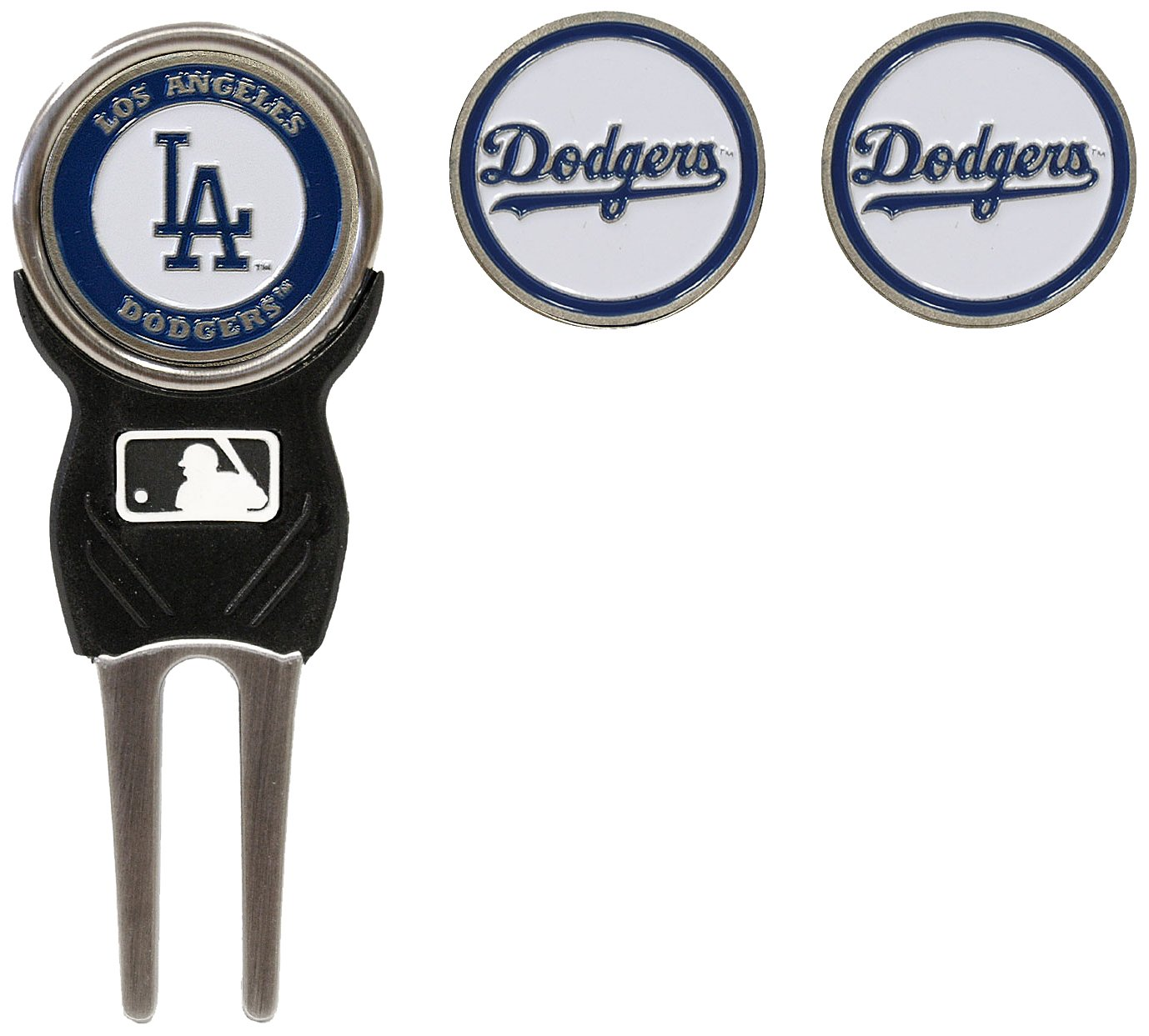 MLB Los Angeles Dodgers Divot Tool Pack With 3 Golf Ball Markers