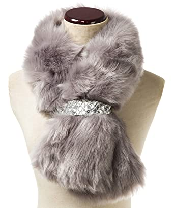 Saferin Falso invierno abrigo de la bufanda de piel sintética de las mujeres para boda (
