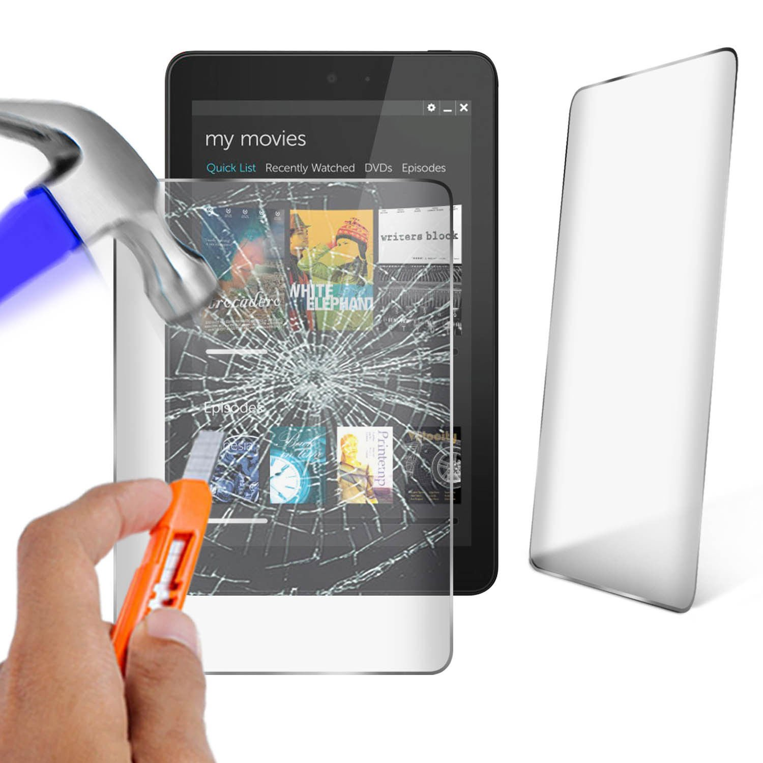 N4U Online/® Genuine Premium Tempered Glass Screen Protector For Dell Venue 8 Tablet