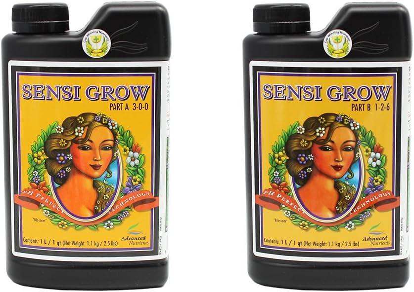 Advanced Nutrients 6201-14AB pH Perfect Sensi Grow Part A+B, 1 Liter, Brown/A