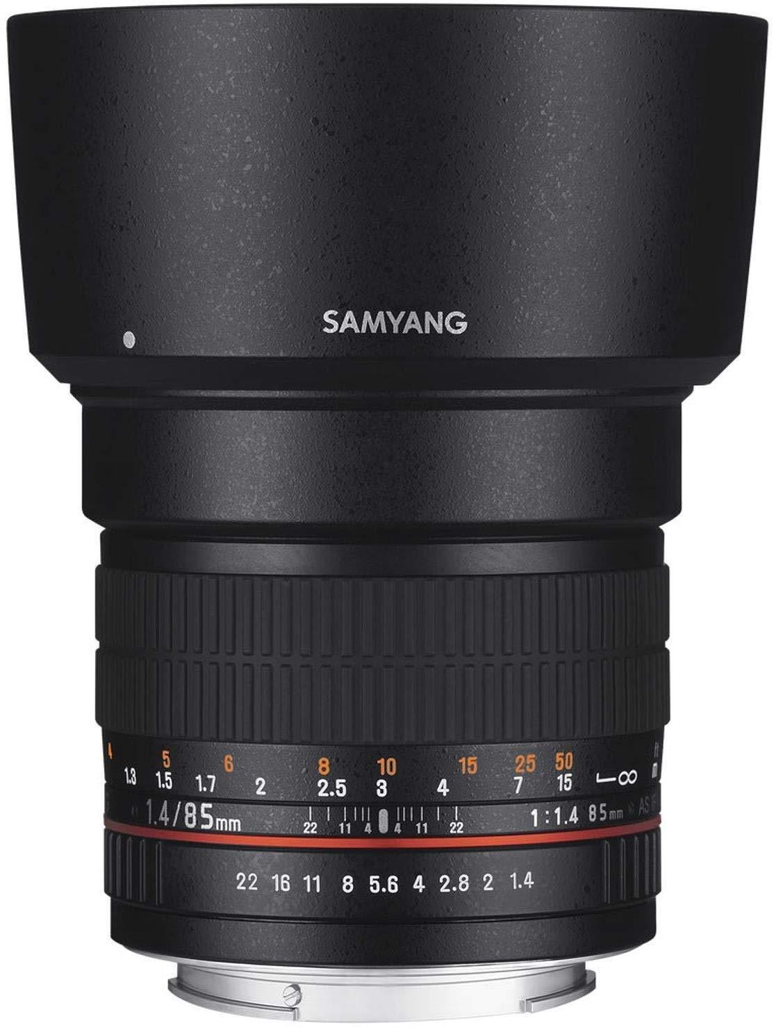 Samyang 85/mm F1.4/Lente para Conector