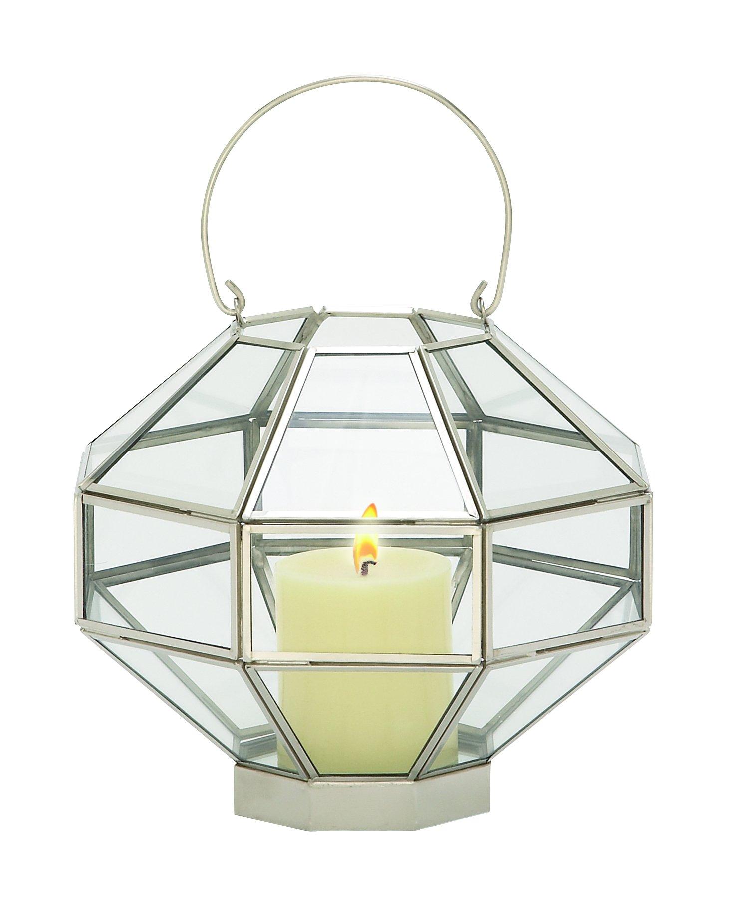 Deco 79 37157 Metal & Glass MIR Lantern