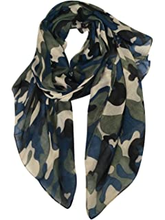 36ad39e7695e1 GERINLY Scarves - Lightweight Fall Winter Travel Scarf Camouflage Print  Shawl Wrap