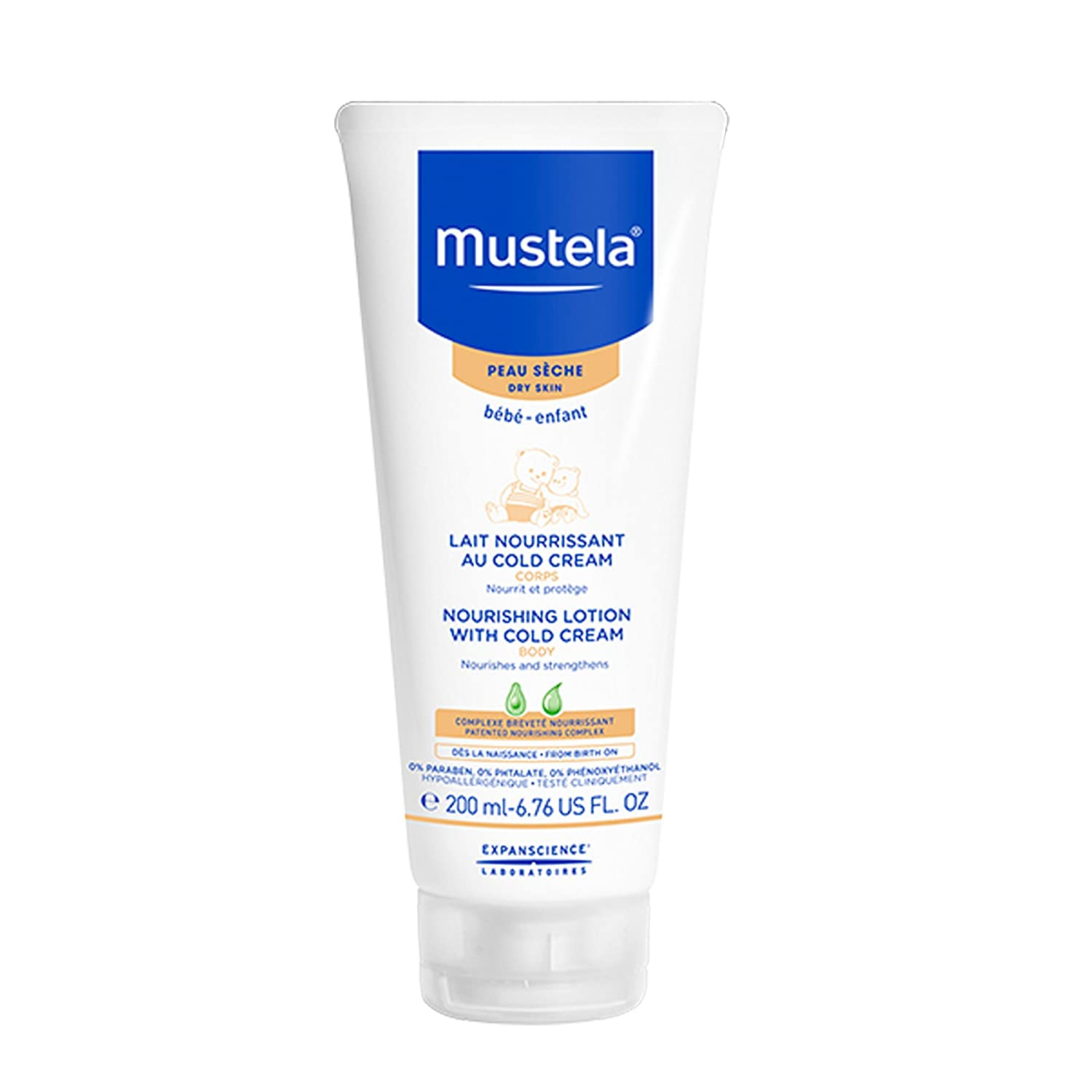 Amazon Com Mustela Nourishing Lotion With Cold Cream Baby Lotion For Dry Skin With Ceramides And Natural Avocado Perseose 6 76 Ounce Premium Beauty