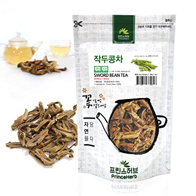 [Medicinal Korean Herb] Sword Bean Tea (Canavalia Gladiata/Jiandou/작두콩 차) Dried Bulk Herbs 86g (3oz) : Garden & Outdoor