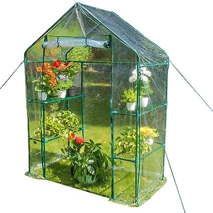 Amazoncom Sundale Outdoor Gardening Portable 2 Tier 4 Shelf