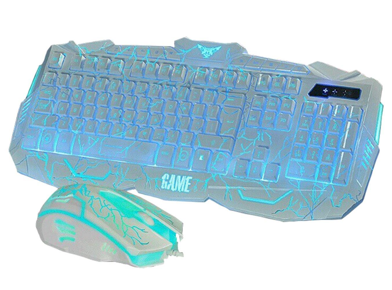 Drasawee Wired Illuminated LED Backlit Ergonomic Gaming Keyboard and ...