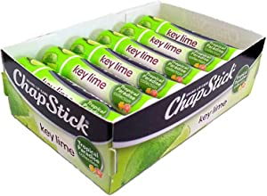 Chapstick Limited Edition Tropical Paradise Collection Key Lime Flavored Skin Protectant Lip Balm Tube - Great for Moisturizing & Hydrating Chapped, Cracked, Dry Lips – 0.15oz Each, 12 Sticks