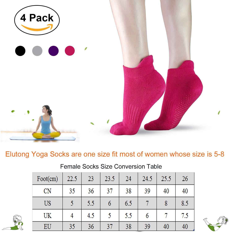 Amazon com: Sticky Grippers Non Skid Socks ELUTONG 1/2/3/4
