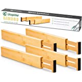 Utoplike 4 pcs Bamboo Kitchen Drawer Dividers(16.8-21.8IN),Adjustable Drawer Organizers,Spring Loaded,Works in Kitchen…