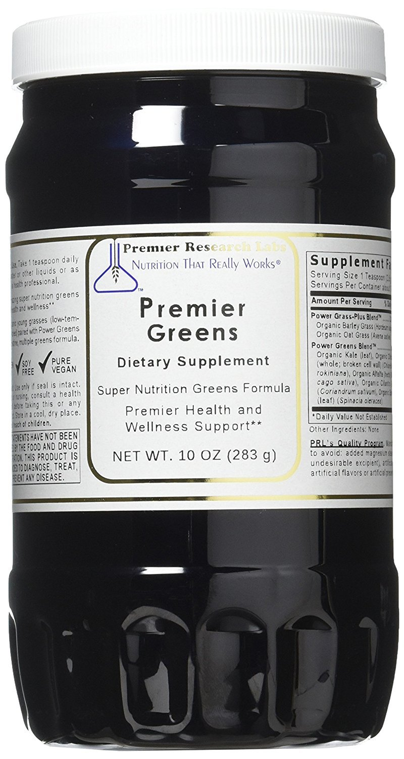Premier Greens, 30oz Powder, Vegan Product, Gluten-free - Super Nutrition Greens Formula with Power Grass-Plus Blend By Premier Research Labs