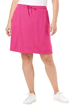 a1f6e5447a Woman Within Women's Plus Size Sport Knit Skort - Raspberry Sorbet, ...