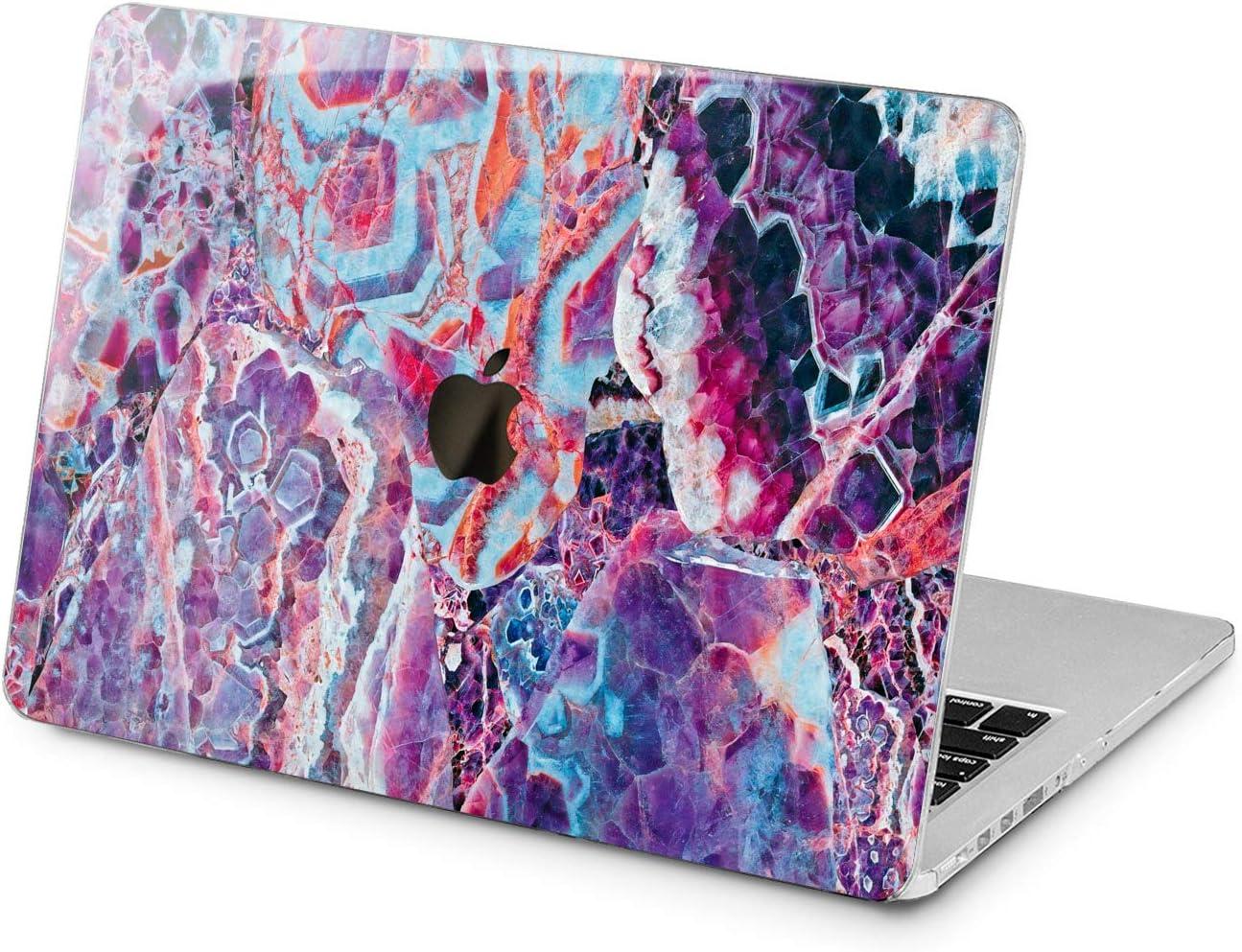"Cavka Hard Shell Case for Apple MacBook Pro 13"" 2019 15"" 2018 Air 13"" 2020 Retina 2015 Mac 11"" Mac 12"" Purple Crystal Beautiful Print Amethyst Laptop Texture Protective Design Trendy Cover Plastic"