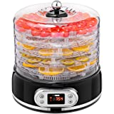 VIVOHOME Electric 400W 5 Trays Round Food Dehydrator Machine with Digital Timer and Temperature Control for Fruit…
