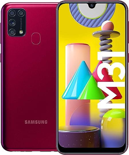 Samsung Galaxy M31 Smartphone (15.92 cm / 6.4 Inches, 64 GB Internal Memory, 6 GB RAM, Android, German Version, red