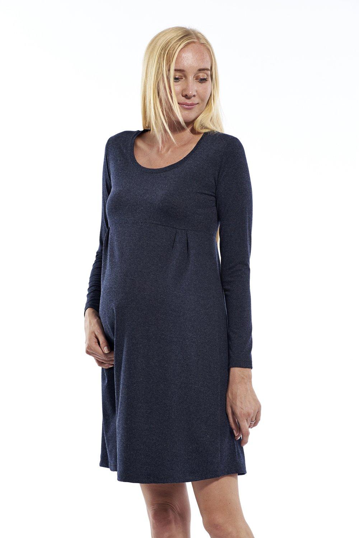 Vestido de mujer premamá manga larga, vestido para la lactancia Casual, premamá perchero: Amazon.es: Ropa y accesorios