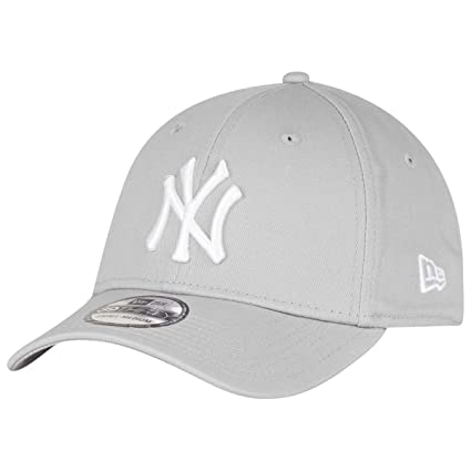 4c00abc29b6f6 New Era New York Yankees Stretch Fit Cap Grey 3930 39thirty Curved Visor L  XL