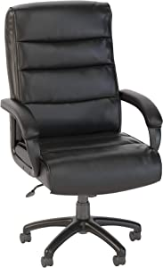 Bush Business Furniture Soft Sense High Back Leather Executive Office Chair in Black