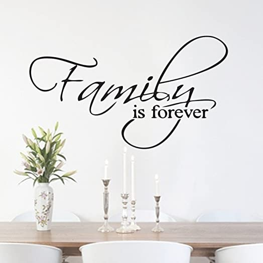 Family Is Forever Quote Home Hallway Lounge Living Room Kitchen Dining Room  Bedroom Wall Sticker Wall Part 66