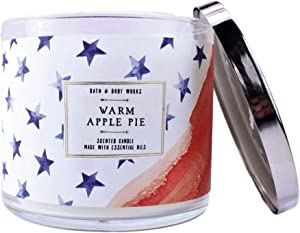 White Barn BBW Warm Apple Pie 3 Wick Candle Stars & Stripes