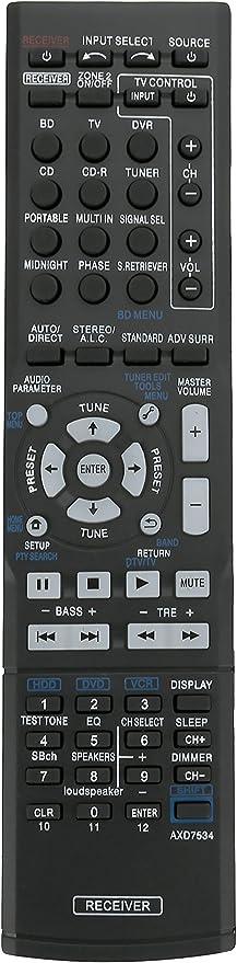 New AXD7534 Replaced Remote Control for Pioneer AV Receiver VSX-519V VSX-519V-S