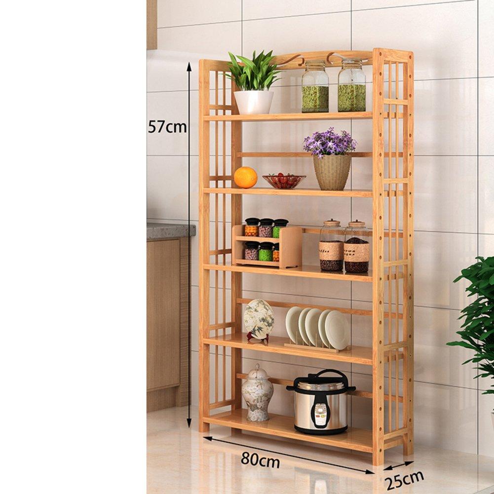 JX& BOOS Pavimento libreria, Cucina semplice mensola deposito rack salone di legno solido mensola camera deposito rack multistrato-U 69x35x25cm(27x14x10) WJXBOOSPRO