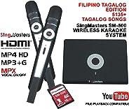 SingMasters Magic Sing FILIPINO Karaoke Player,5135 Philippines Filipino Tagalog Pinoy Song,12985 English songs Dual wireles