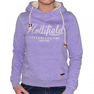 Hollifield - Sweat Capuche - Col Echarpe - Femme - Hfs57 - Mauve - XL ba32c189099
