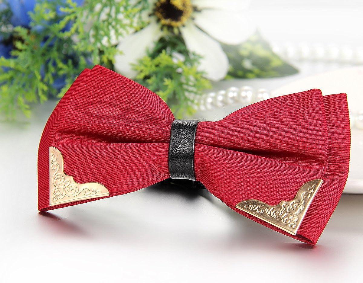 3 Farben JewelryWe Herren Fliege Schleife Gestreift Gebunden Anzug Hemd Krawatte Schlips Binder Bow Tie Verstellbar f/ür Smoking Business