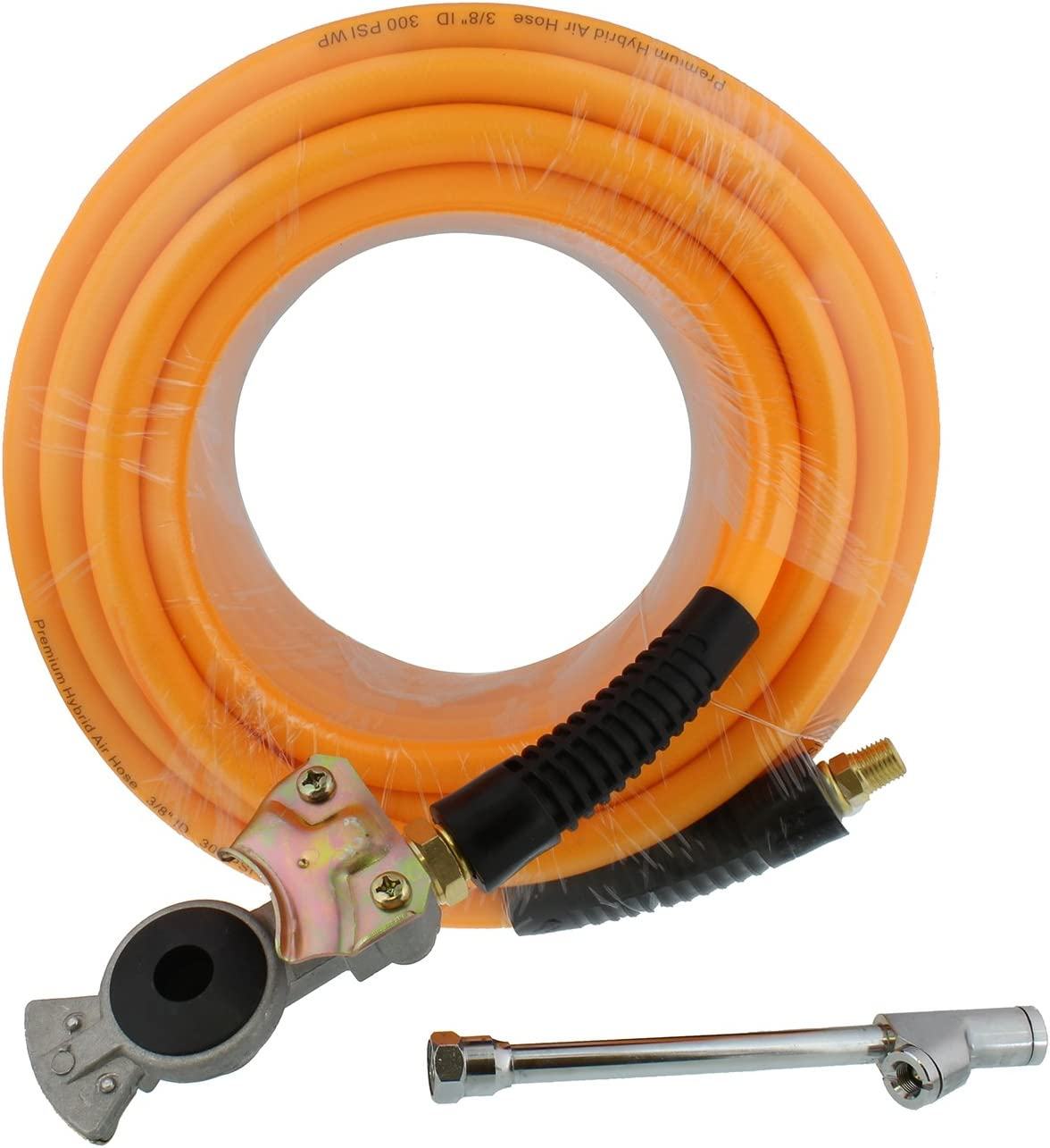 Air Hose Kit 15M Flexible PVC Pneumatic Air Hose with 25pcs Compressor Accessory Kit Tool