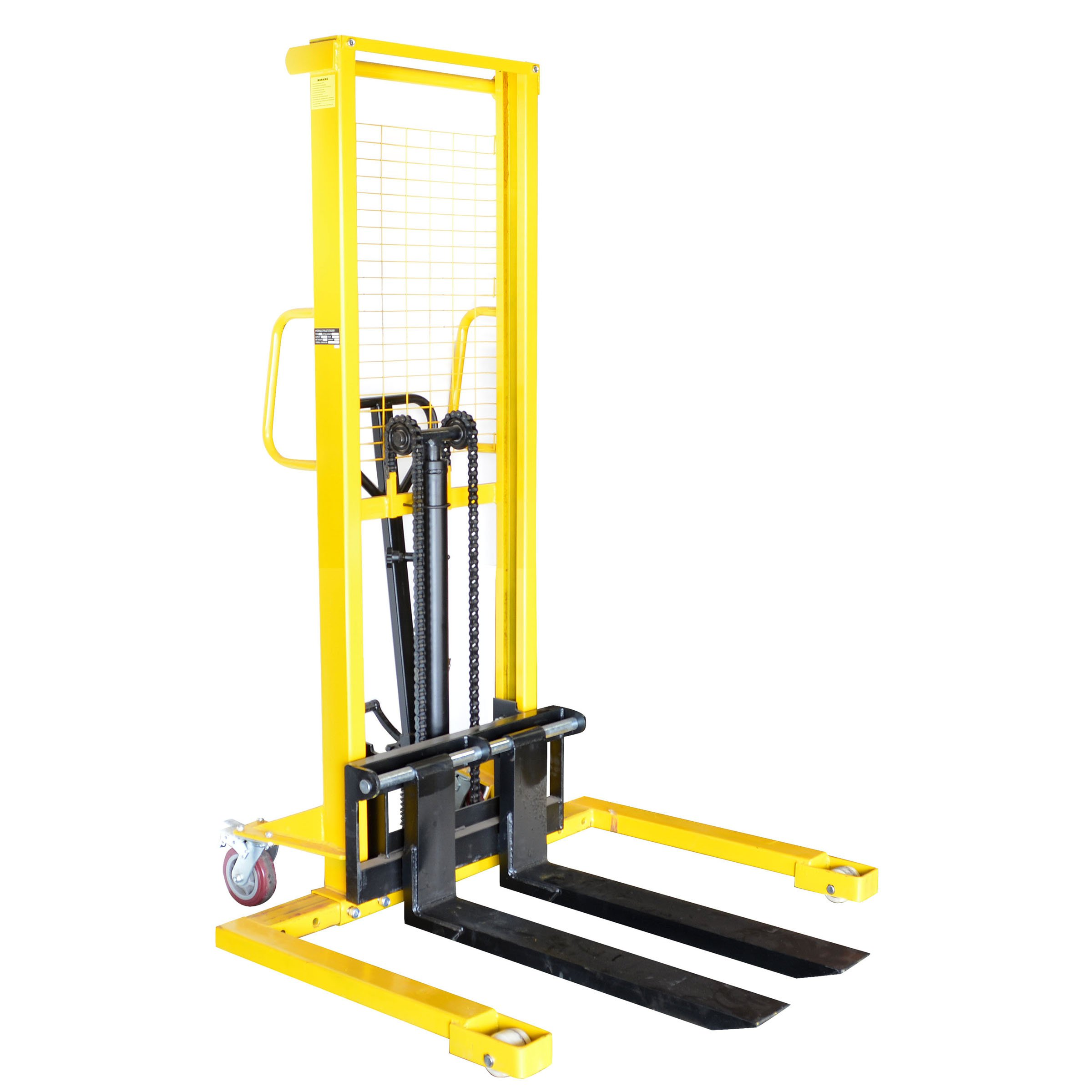 Pro-Series 700398 Manual Pallet Stacker, 2,200-Pound Capacity