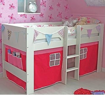 Tent for SHORTY Midsleeper Bed Girls Boys Bedroom Blue or Pink