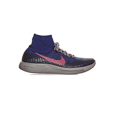 huge discount 15f3f deeb9 Nike Gyakusou LunarEpic Flyknit FK Shield Sneakers, Deep Royal  Blue White-Black (