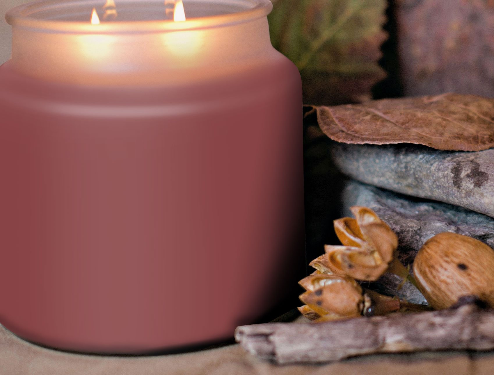 Strong Scented Candles Using Innovative Fragrance Technology. Authentic Nutmeg Spice Soy Candle 16oz by Pure Integrity