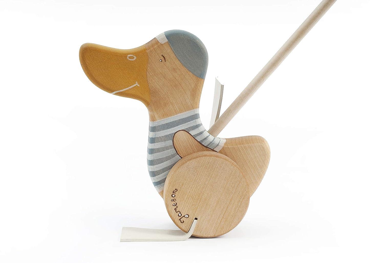 Schiebespielzeug Ente Holz, Personalisierte Geschenke zum 1-2 Geburtstag