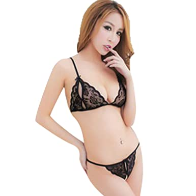 c111c4284691 Astar Women's Net and Lace Lingerie (Black; Free Size): Amazon.in ...