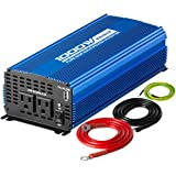 Kinverch 1000W Continuous /2000W Peak Pure Sine Wave Inverter DC 12V to AC 110V Car Power Inverter with Dual AC Outlets…