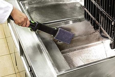 Magiclean Freidora Limpiador por Magnesol, polvo de limpieza para freidora sin espuma, freidora para eliminar los depósitos de carbono y grasa en freidoras profundas, hace que las freidoras brillen, frasco de 1