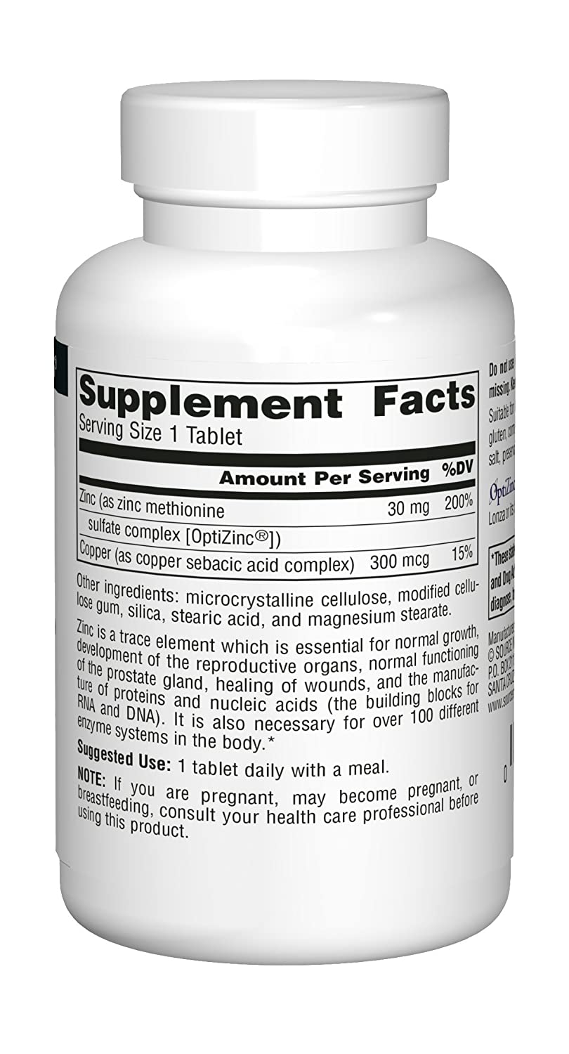 Source Naturals OptiZinc, 120 Tablets: Amazon.es: Salud y cuidado personal